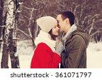 happy smiling couple in love.   Shutterstock . vector #361071797