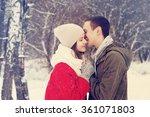 happy smiling couple in love.   Shutterstock . vector #361071803