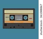 retro audio cassete. vintage...