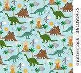 dinosaur scene   Shutterstock .eps vector #361092473