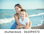 happy family. young happy... | Shutterstock . vector #361094573