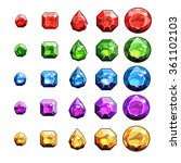 gems and diamonds icons set | Shutterstock .eps vector #361102103