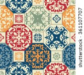 seamless patchwork pattern from ... | Shutterstock .eps vector #361107707