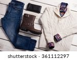 Set Of Men's Clothing On A...