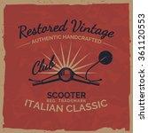 vintage italian scooter tee... | Shutterstock .eps vector #361120553