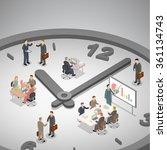 time management business... | Shutterstock .eps vector #361134743