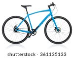 New blue bicycle isolated on a...
