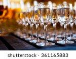 glasses of vodka on wooden table | Shutterstock . vector #361165883