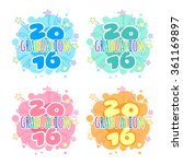 four badges for 2016 graduation ... | Shutterstock .eps vector #361169897