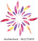 Watercolor Feathers Seamless...