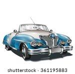 retro car. | Shutterstock .eps vector #361195883