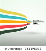 colourful curve composition... | Shutterstock .eps vector #361196033