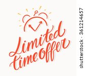 limited time offer. | Shutterstock .eps vector #361214657