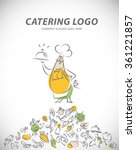 vector template of catering... | Shutterstock .eps vector #361221857