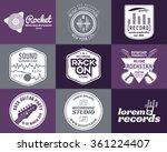 set of vector music production... | Shutterstock .eps vector #361224407