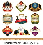 vctor luxury labels | Shutterstock .eps vector #361227413
