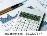finance concept expenses... | Shutterstock . vector #361227947