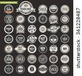 sale retro vintage badges and... | Shutterstock .eps vector #361228487
