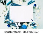 workplace seamstresses ...   Shutterstock . vector #361232267