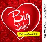 valentine's day sale | Shutterstock .eps vector #361250537
