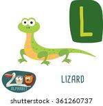 Cute Zoo Alphabet In Vector. L...