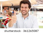 young man with thumb up   Shutterstock . vector #361265087