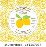 jam label design template. for... | Shutterstock .eps vector #361267037