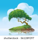 a tree on swamp painting... | Shutterstock . vector #361289297