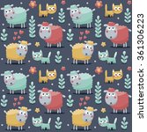 seamless cute pattern made with ... | Shutterstock .eps vector #361306223