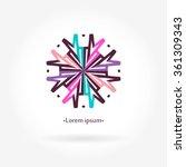 logo for flower shop  interior. ... | Shutterstock .eps vector #361309343