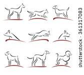 dogs set. vector | Shutterstock .eps vector #361317083
