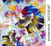 seamless summer pattern with... | Shutterstock . vector #361318187