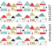 seamless pattern. cute color... | Shutterstock .eps vector #361321607