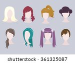 set of different cartoon... | Shutterstock .eps vector #361325087