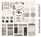 hand drawn textures and brushes.... | Shutterstock .eps vector #361332677