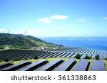 solar panels and wind... | Shutterstock . vector #361338863