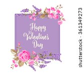 happy valentines day card. | Shutterstock .eps vector #361349273