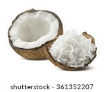 freshly grated coconut shell... | Shutterstock . vector #361352207