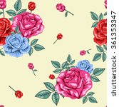 flowers roses pattern | Shutterstock .eps vector #361353347