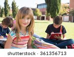 group of little students... | Shutterstock . vector #361356713