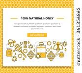 apiary vector website banner... | Shutterstock .eps vector #361356863
