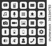 mobile app icon set 7  | Shutterstock .eps vector #361364783