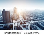 aerial view of the city viaduct ... | Shutterstock . vector #361364993