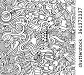 cartoon hand drawn doodles on...   Shutterstock .eps vector #361372337