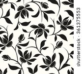 vector seamless black and white ... | Shutterstock .eps vector #361375553