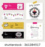 valentines day cards  gift tags ... | Shutterstock .eps vector #361384517