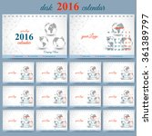 vector template desk calendar... | Shutterstock .eps vector #361389797