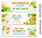 illustration of republic day... | Shutterstock .eps vector #361393523