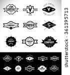 retro vintage insignias or... | Shutterstock .eps vector #361395713