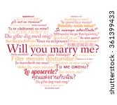 phrase will you marry me in... | Shutterstock .eps vector #361399433